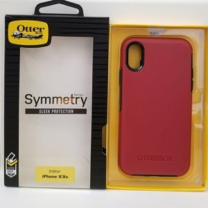 iPhone X/Xs Otterbox Symmetry Case/ red